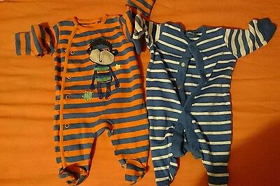 Baby boy first size sleepsuit up to 7lb 5oz
