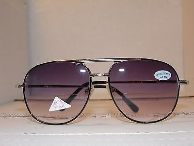 Mens Aviator Sunglass +175 lens