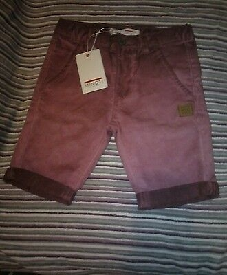 Brand new Minoti chino denim shorts. age 3-4 years