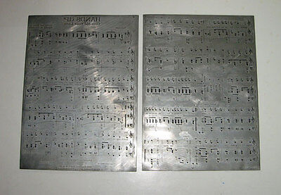 2 antique Vintage PRINTING PLATES Sheet Music **HANDS UP**