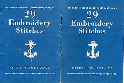 Vintage Anchor Booklet - 29 Embroidery Stitches