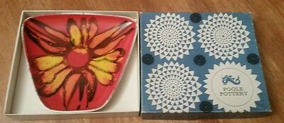 Vintage Poole Pottery small dish beautiful colors perfect condition