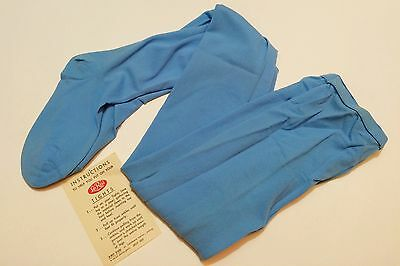 Girls Vintage LeRoi Blue Tights In Original Packaging Size 12-14 Made in USA