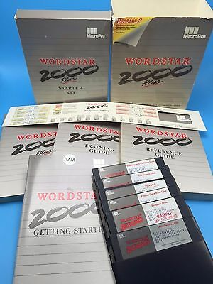MicroPro WORDSTAR 2000 Plus Release 2 Word Processor on Floppy Disks