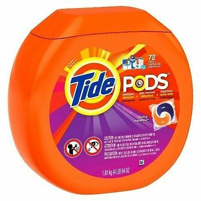 Tide Pods Spring Meadow or Original Laundry Detergent 72 Loads FASTEST SHIPPING