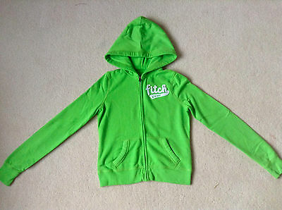 Girls Abercrombie & Fitch Lime Green Cotton Fleece Hoodie 11-12 Years