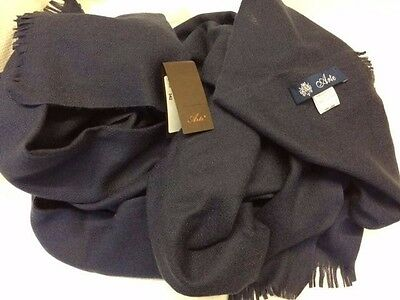 Sciarpa Blu navy ARTE CASHMERE unisex lana  MADE IN ITALY