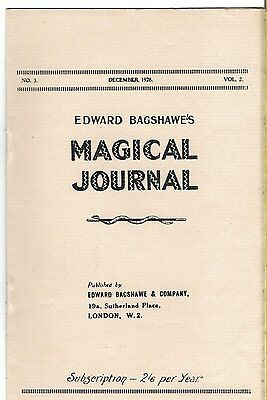 Edward Bagshawe's Magical Journal. December 1928. Magic Magazine.