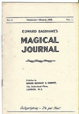 Edward Bagshawe's Magical Journal. Feb-March 1928. Magic Magazine.
