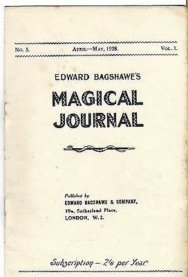 Edward Bagshawe's Magical Journal. April-May 1928. Magic Magazine.