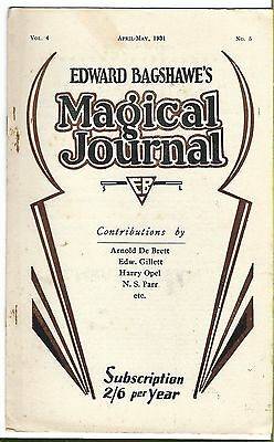 Edward Bagshawe's Magical Journal. April-May 1931. Magic Magazine.