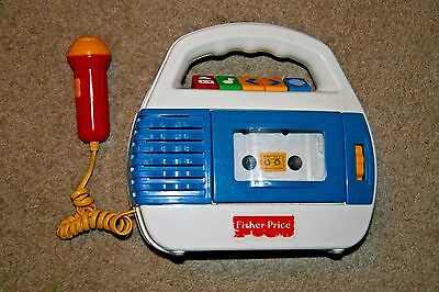 Vintage Fisher Price Cassette Player Recorder Microphone 1997 Rare Model 73801