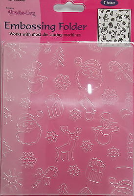 Embossing Folder - Crafts Too - Xmas Background - 106 x 150mm - ref 4007