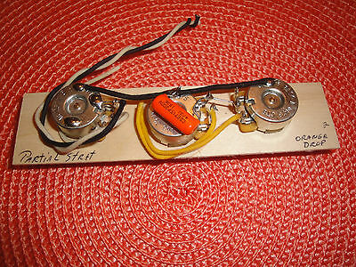 MADE FOR STRAT PARTIAL WIRING HARNESS 250k CTS CDE ORANGE DROP .047 PROJECT 2