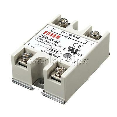 SSR-40AA 40A Solid State Relay Module 80-250V AC / 24-380V AC W