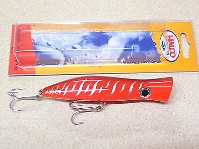 Halco Roosta Popper 105mm (RED TIGER) Fishing Lure