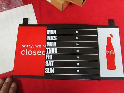 New Coca-Cola Door Sign Open/close With Hours Of Operation