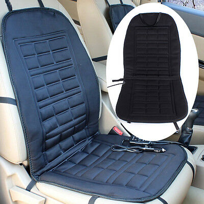 12V Car Front Seat Hot Heated Pad Cushion Winter Warmer Cover Black
