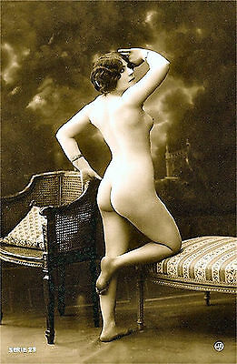 A4 Vintage 1920's Art Deco Pretty Nude Girls ..Victorian/Edwardian Beauties 258