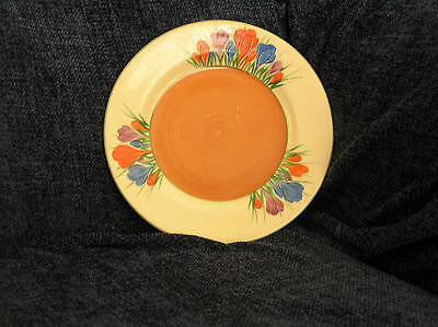 Early Clarice Cliff Crocus Pattern plate c 1930 (pre-Bizarre) Wilkinson Ltd