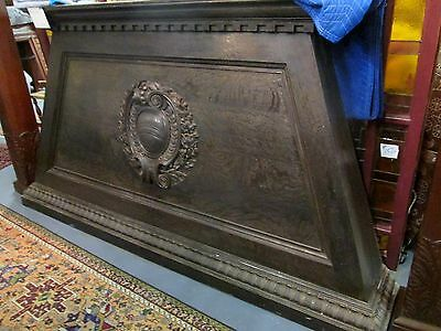 Antique Walnut Victorian Rococo Crested Mantel Top Schrewbury Museum Sale