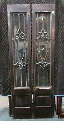 Fine Fancy Pair Of Nicely Beveled Antique Glass Door Side- Lites  Estate # 237