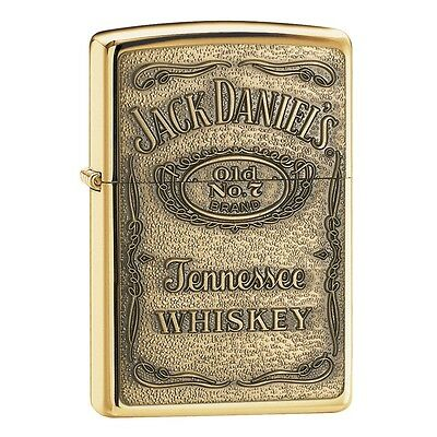 ZIPPO LIGHTER  JACK DANIEL LOGO-254JD428-Free Engraving-Free Wick & Flint