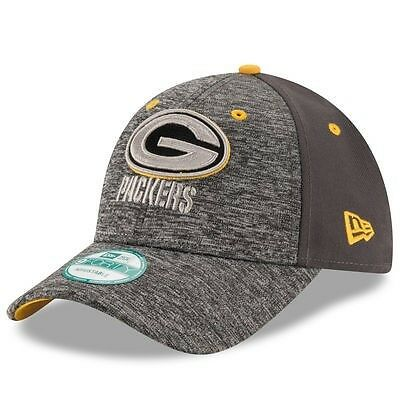 Green Bay Packers New Era 9Forty Shadow Adjustable Cap - Heather Grey/Graphite