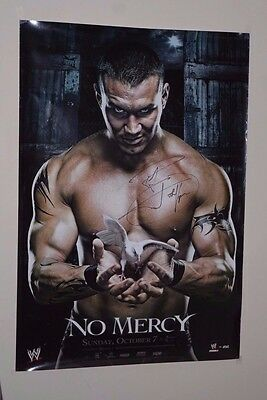 RANDY ORTON Signed WWE NO MERCY 2007 PPV Wrestling Poster WWF The Viper RKO