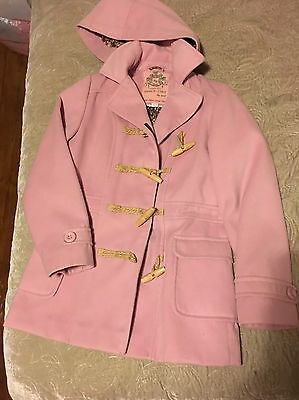 NEXT Gorgeous Girls Pink Thick Lined Warm Winter Duffle Coat Jacket 11-12 years