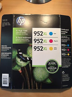 Genuine HP 952XL Color Ink (Retail Box)