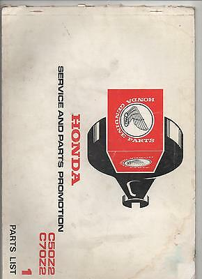 HONDA PARTS CATALOGUE / LIST No.1 C50Z2 / C70Z2 - 1977