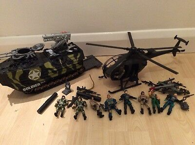 Special Forces Army Toys/Transporter/Helicopter/Soldiers, Lanard