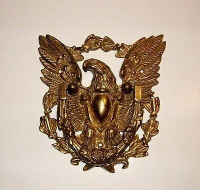 Vintage Large  Brass American Eagle Door Knocker