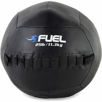 Fuel Pureformance Medicine Ball Leatherette 25 Lbs Weighted Muscle Fitness Sport