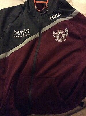 Good Condition Worn Manly Warringah Sea Eagles Hoodie 2xl