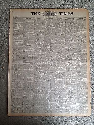 The Times newspaper.  9th June 1947. ORIGINAL & COMPLETE.