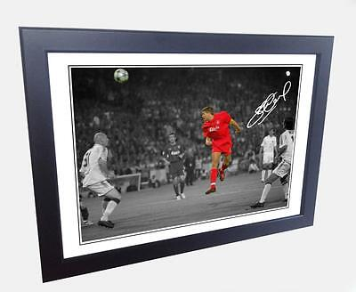 12x8 Signed Istanbul Steven Gerrard Liverpool Autograph Photo Photograph Picture