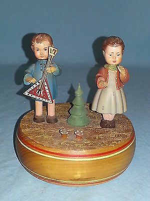 Vintage Anri Reuge Swiss Wooden Music Box, Carved Wood, Plays Doctor Zhivago