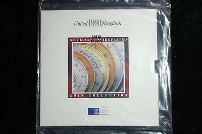 Royal Mint - Uk 1991 Brilliant Uncirculated Coin Collection Sealed  #m3040