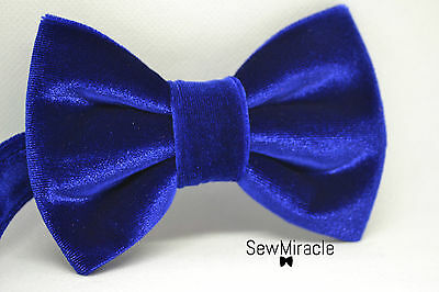 Men's Velvet Bow Tie* With matching pocket square* Blue Velvet Handmade Bow tie