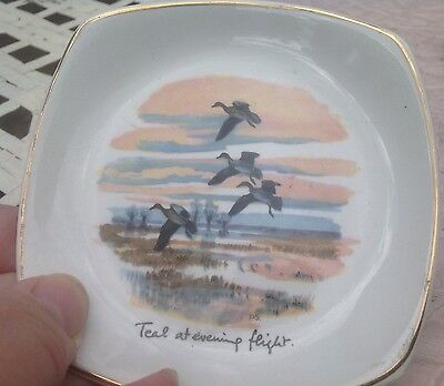 Midwinter Peter Scott Teal At Evening Flight Pin Tray