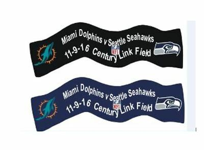 Miami Dolphins Seattle Seahawks Limited Edition 2016 Nfl American Football Badge