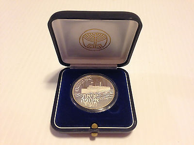 """ISRAEL 1987 SHIP """"EXODUS 1947"""" STATE MEDAL STERLING SILVER Round Medallion"""