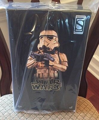 Brand New Htf Star Wars Gold Storm Trooper Sideshow Hot Toys SDDC Exclusive