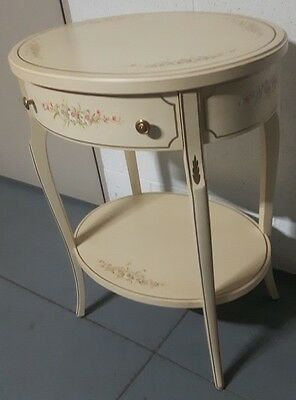 European style antique side table with a drawer. Antique wood : A BEAUTY !!!