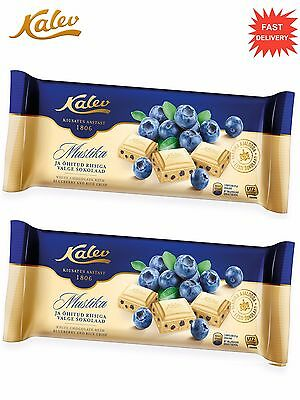 2 x KALEV ® White Chocolate With Rice Crisp and Blueberry - 190 g / 6.70 oz