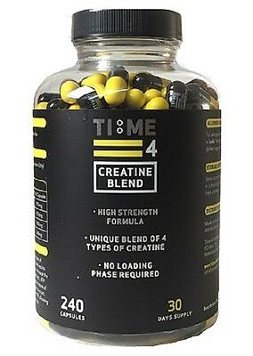 Time 4 Nutrition Creatine Blend 240 Capsules High Strength
