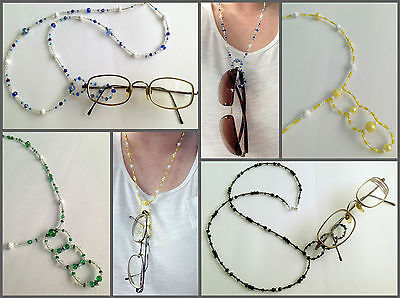 Handmade spectacle/glasses beaded lanyard chains - lots of colours