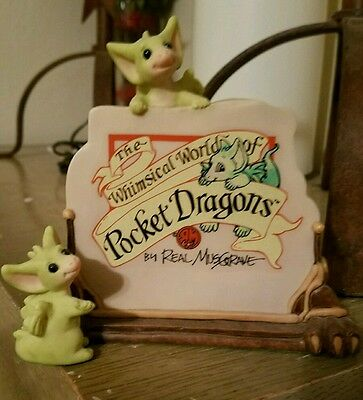 The Whimsical World of Pocket Dragons A Very Good Sign Life is Good - NEW - RARE